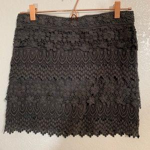 American Eagle | Gray Crochet Lined Mini Skirt - 2